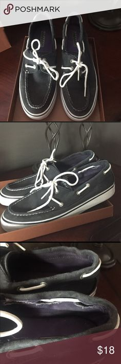 Sperry boat shoes Women's black canvas size 8 Sperry boat shoes Sperry Shoes Sneakers