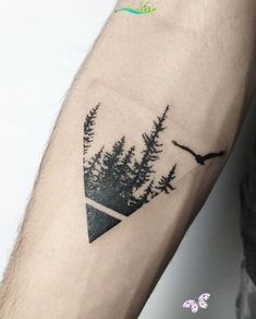 101 Amazing Pine Tree Tattoo Ideas Will Love! | Outsons | Men's Fashion Tips And Style Guide For 2020  <br> A pine tree tattoo or forest tattoos will suit guys who like nature. There are many different styles of tree and forest tattoo designs… Simple Tree Tattoo, Tree Tattoo Men, Tree Tattoo Designs, Tattoo For Man, Back Tattoo Men, Tree Tattoo Back, Tattoo Guys, Design Tattoos, Mom Tattoos