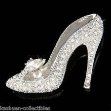crystal glass slippers | Swarovski Crystal ~Cinderella~ Glass Slippers High Heel shoes Fairy ...