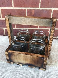 Reclaimed pallet caddie silverware table centerpiece rustic home decor wedding centerpiece . $30.00, via Etsy.