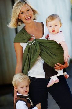 Olive Green lightly padded ring sling.  www.wovenwraps.com Maya Wrap, Ring Sling, Baby Sling, Baby Wearing, Olive Green, Stylish, Spaces, Photos, Bebe