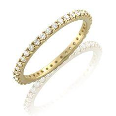 Amazon.com: 14k Yellow Gold Diamond Eternity Band Ring (H, I1-I2, 0.50 carat): Jewelry