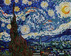 Brett Campbell starry night mosaic art mural~