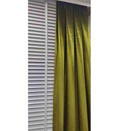 Yeşil Kadife Fon Perde 60x290 cm