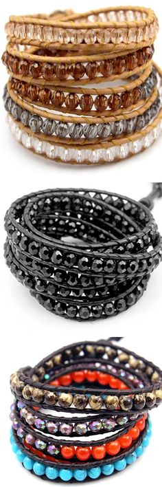 Florence Scovel has the most fashionable and unique collection of wrap bracelets. All piece we offer are hand-crafted. We are certain that you'll love our collection and find some which are perfect for you. Roger Vivier, Beaded Jewelry, Jewelry Bracelets, Wrap Bracelets, Bracelet Making, Jewelry Making, Homemade Jewelry, Beads And Wire, Colored Diamonds