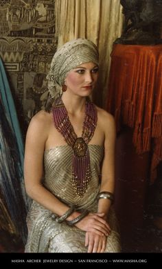 Masha Archer Jewelry - Vintage Assiut on model - Photo: Charles Archer
