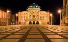 Chemnitz, night, area, Saxony, Germany