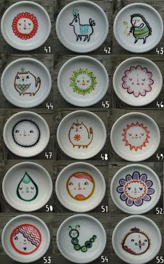 laurabergerart:    some handpainted dishes i made recently // #41-55
