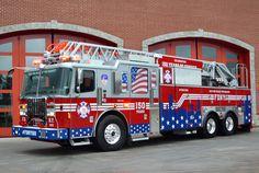 FDNY Celebrates 150th Anniversary with a Patriotic Themed Ferrara Fire Apparatus - Fire Apparatus