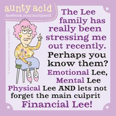 Ged Backland's random and witty thoughts on everyday life as told by Aunty Acid and her husband Walt in this Web comic Funny Cartoons, Funny Jokes, Hilarious, Cartoon Jokes, Funny Minion, Auntie Quotes, Aunt Acid, Old Lady Humor, Senior Humor