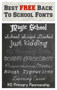 These are great fonts for young children. They are free to download. Kathleen at International Play Companhy    Best FREE Back To School Fonts - Thinking Outside The Sandbox