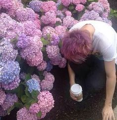 I hate it when we loose Michael in the flowers