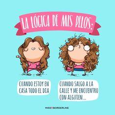 La lógica de mis pelos! #humor #chistes #funny #divertidos #graciosas #missborderline