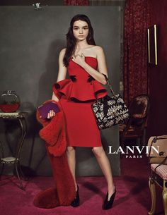 Lanvin ad campaign 2012.... LOVE the look...
