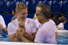 Brother getting baptized- Look how happy!-  Indianapolis, Indiana International Convention 2014