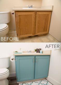 bathroom cabinet diy
