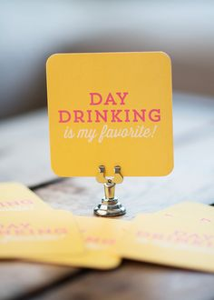 Day Drinking is my favorite   Set of 10 by KellyElliottCreative