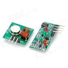 433Mhz RF Transmitter Module + Receiver Module Link Kit for Arduino / ARM /MCU WL - Green