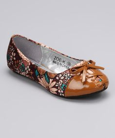 Take a look at this Brown Zoe Ballet Flat on zulily today!