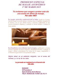 PROMOCION ESPECIAL AYURVEDA  http://www.danaki.es/promocion-masaje-ajurveda/