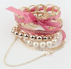 Teenage Multi Layer Bow Tie Woman Br...  Learn more by visiting the picture  Read more at  http://www.luulla.com/product/318029/teenage-multi-layer-bow-tie-girl-bracelet