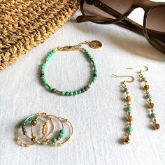 E-boutique Louise Hendricks Turquoise, Hoop Earrings, Boutique, Summer 2016, Bracelets, Addiction, Paris, Jewelry, Boucle D'oreille