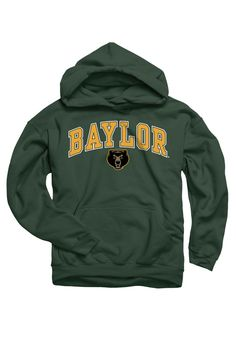 Baylor Bears Youth Hunter Green Arch Baylor Hooded Sweatshirt