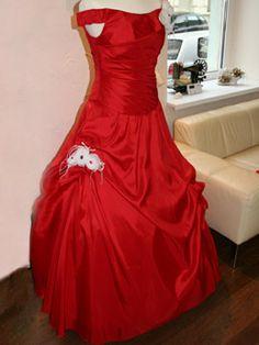 rotes Hochzeitskleid - made by Cinderella-Traumkleid.de