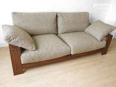 joystyle-interior   Rakuten Global Market: Walnut Walnut solid wood natural wood wooden frames covering Sofer high density polyurethane and feather, solid frame made sofa-sofa 3 P-SOFA-M pillow 2 the amount depends on the Internet shop limited original size *!