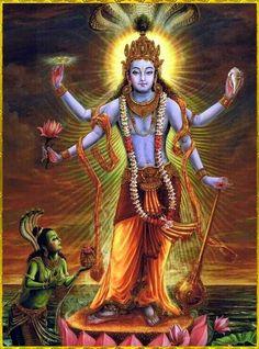 The great hindu mythology of lord vishnu Krishna Painting, Krishna Art, Hare Krishna, Shiva Art, Lord Vishnu, Lord Durga, Bhagavad Gita, Orisha, Lord Krishna Wallpapers