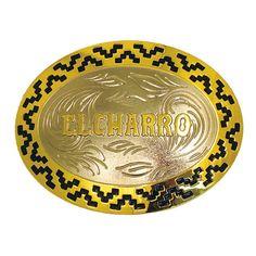 """F202 – Limited Edition -2008 - El Charro - La F202 è una delle fibbie di maggiori dimensioni della collezione El Charro. Semplice e di effetto.  Prodotta nel 2008 in """"Zamak"""" ne sono stati realizzati solo 300 pezzi.  Misura 12 x 9,5 cm."""
