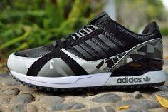 Comfort Adidas Original Zx 700 Opprinnelige Grå Hvit Svart Joggesko