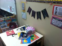 """Reading Corner. I really wanted to create an elaborate """"book nook"""" but never quite got to it this year."""