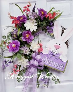 Easter Wreath Easter Wreaths, Holiday Wreaths, Holiday Crafts, Spring Projects, Spring Crafts, Summer Wreath, Spring Wreaths, Easter Crafts, Easter Decor