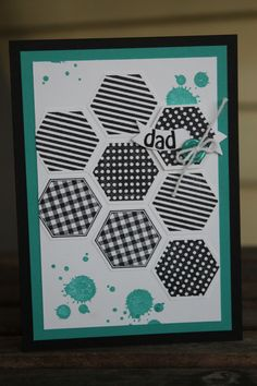 Six Sided Sampler, Gorgeous Grunge Stampin' Up! Card For Dad ~ Stamp with Rachel ~