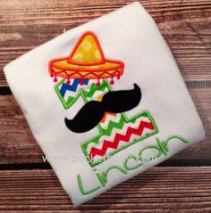 Personalized Fiesta Birthday Shirt  Cinco de Mayo by Pocketbaby
