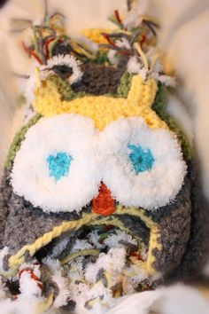 Stinkin' Adorable Crochet Owl Hat with ear by MadeForYouCrafts, $12.00 Order now to have your 's in time for the cool weather!  Find us on Facebook!