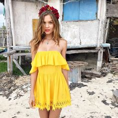 Picture of Josephine Skriver Josephine Skriver, Lovers And Friends Dress, Summer Outfits, Summer Dresses, Summer Clothes, Fashion Outfits, Womens Fashion, Dress Brands, Dress To Impress