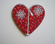 Mandala Dot Art Hearts Magnets, Dot Painting Fridge Magnets, Magneti Frigorifero, Magneti in legno Rock Painting Patterns, Rock Painting Ideas Easy, Dot Art Painting, Stone Painting, Mandala Painting, Mandala Painted Rocks, Mandala Rocks, Ideas Scrapbook, Magnet Drawing