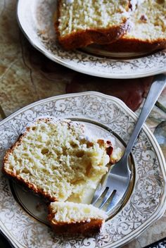 very moist vanilla yogurt cake