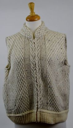 BRANIGAN WEAVERS of IRELAND Womens Large Multi-Color Full Zip Sweater Vest  #BraniganWeavers