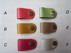 Leather Earbud Holder, Phone Cord Organizer, many colors, welcome!