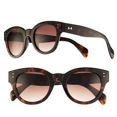 LC Lauren Conrad Tortoise Retro Round Sunglasses - Women