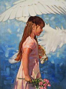 Ron DiCianni - Under His Wings    This is another one I would like for the girls' room.