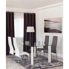 Mesa de comedor de cristal mesas de for Sillas comedor tifon