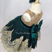Fancy Dress – Tiny Toes Boutique LLC Pink Sequin Dress, Rhinestone Dress, Christmas Pageant, Pageant Girls, Jasmine Dress, Gold Sequins, Handmade Dresses, Green Lace, Flower Dresses