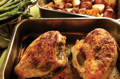 quick apricot  & pesto roasted chicken breasts. This looks yummy for a quick easy gourmet meal.