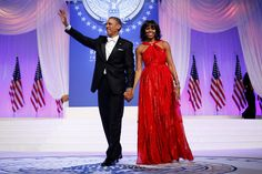 Mrs. Obama Again Chooses Inaugural Gown by Jason Wu - NYTimes.com --with President Barack Obama