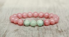 cute bracelet pink turquoise bracelet women present for mom birthday gift for her beaded bracelet summer kawaii bracelet girlfriend gift
