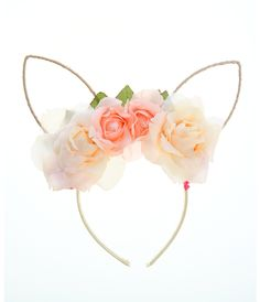 Bentita cu flori 3D si urechi- 40lei